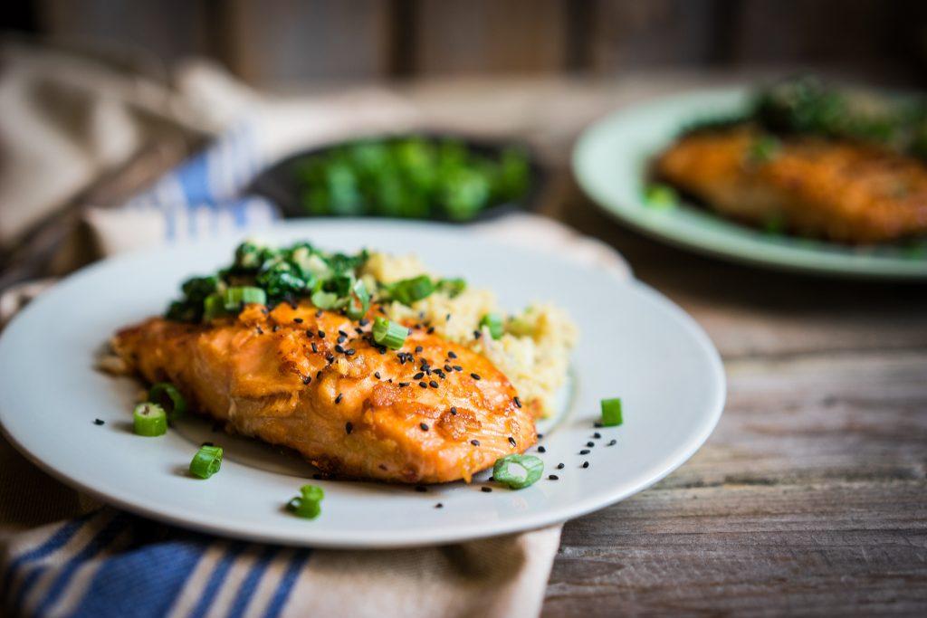 cooked alaskan salmon